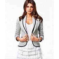 Bloomingstyle Grey Mixed Blazer For Women