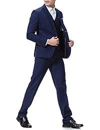 Costume Trois pièces Veste Gilet Pantalon d affaires Mariage Slim fit 76c2ab316bf