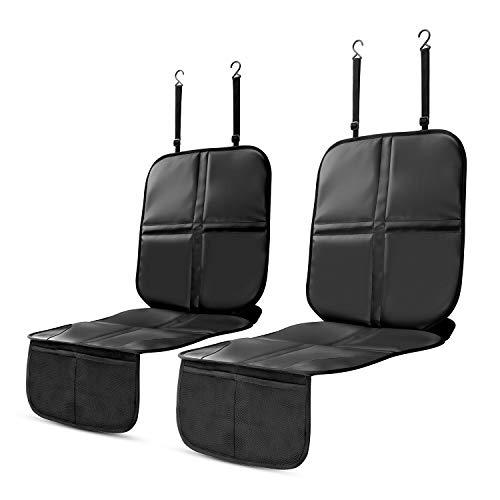 YOOFAN 2 Pack Protector de Asiento de Automóvil - Acolchado más Grueso, Bolsillos del Organizador, Tamaño Universal, Antideslizante, Resistente al Agua