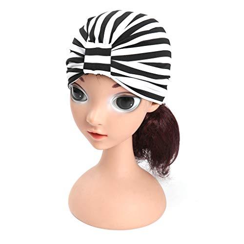 Provide The Best Baby-Mädchen-Streifen Hüte Turban geknotete Stirnband-Kleinkind-Kinder-Kopf-Verpackungs-Haar-Band Kopfbedeckung -