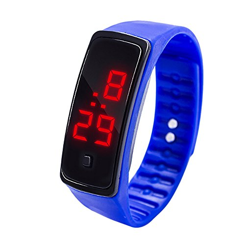 Uhren Unisex Armbanduhr LED Digitalanzeige Armbanduhr Kinder Studenten Silikagel Sportuhr Mode Sport-Armband Klassisch Uhr für Das Festivalgeschenk,ABsoar
