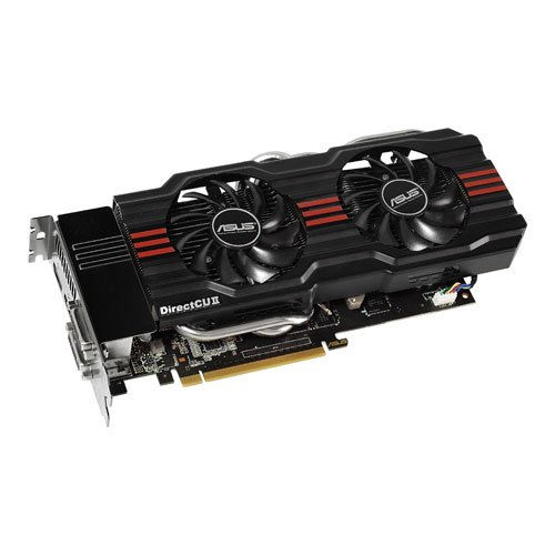 ASUS Nvidia GeForce GTX660 Ti-DC2-2GD5 Grafikkarte (PCI-e 3.0, 2GB GDDR5 Speicher, DVI, HDMI, VGA 1 GPU, - Pc 660 Gtx