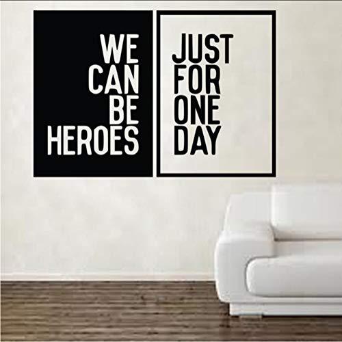 Myvovo David Bowie Heroes Song Music Lyrics Wandaufkleber Kunst Künstlerische Dekorationen 60 * 87Cm