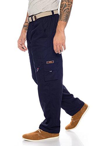 Fashion Herren Thermohose mit Dehnbund - mehrere Farben ID561, Größe:XL;Farbe:Dunkelblau