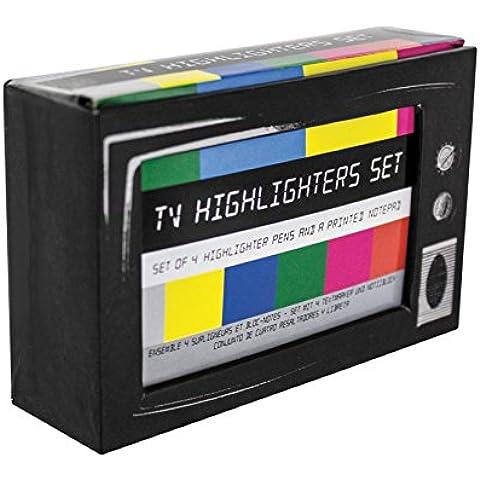 Distrazioni desktop Retro TV evidenziatori penna Set - novità cancelleria