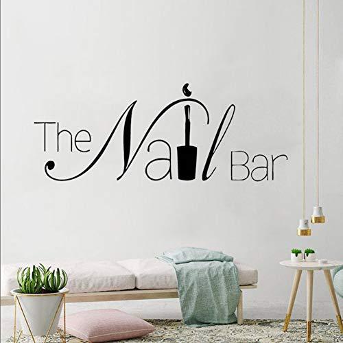 MMLFY Wandaufkleber Die Nagel Bar Logo Wand Fenster Aufkleber Maniküre Design Wandtattoo Abnehmbare Nail Art Wall Poster Schönheitssalon Fenster Decor