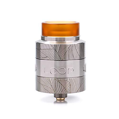 Neueste Geekvape Loop V1.5 RDA 24mm mit einzigartigem Laser Tattoo W-förmige Build-Deck Vape e Cigs Loop RDA Zerstäuber für 510 Box mod Kein Nikotin, keine E-Flüssigkeit (SS) -