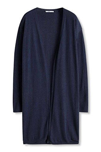 edc by ESPRIT Damen Strickjacke Blau (Navy 400)