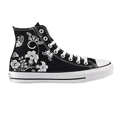 Converse Fleur - Converse All Star Personnalisé Imprimés et Clouté
