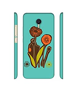 NattyCase Flowers Design 3D Printed Hard Back Case Cover for Meizu M3 Note