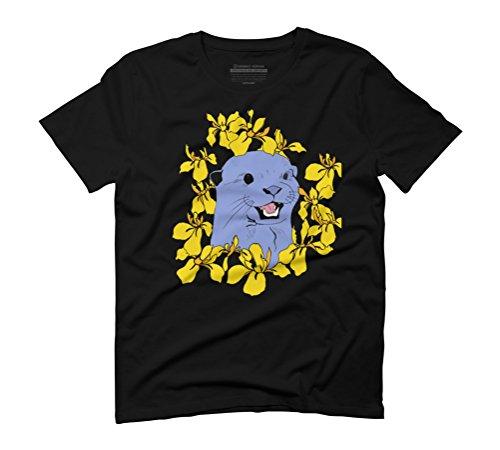 Otter & Flora Men's Graphic T-Shirt - Design By Humans Black