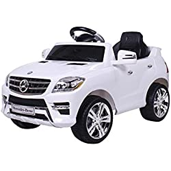 moleo - Coche Infantil Mercedes-Benz ML con 2 Motores, MP3, Mando a Distancia
