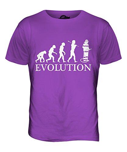 CandyMix Feuerwehrmann Evolution Des Menschen Herren T Shirt Violett