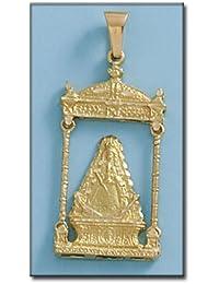 LIOR -Colgante -Medalla Oro de Ley 18k(750) Virgen de Rocio Con Palio