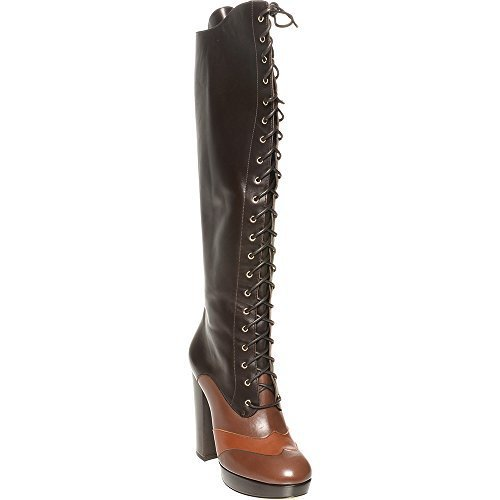 bally-ladies-lace-up-knee-high-boots-eu-38-brown