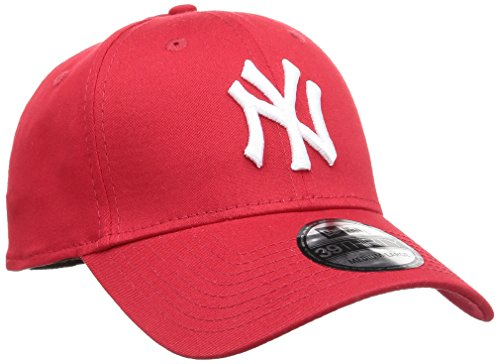 New Era Herren Baseball Cap Mütze M/LB Basic NY Yankees 39Thirty Stretch Back, Scarlet/White, M/L, 10298276 Red Hats Stretch-hut