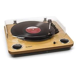 ION Audio Max LP + CZ-800-10 – Giradischi in Legno con Altoparlanti Integrati e Convertitore Vinili con Software…