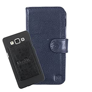 DooDa Genuine Leather Wallet Flip Case Cover With Card & ID Slots For Lava iris 458Q - Back Cover Not Included Peel And Paste