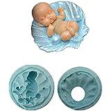 Molde de silicona de bivalvos utilizando niños Craft Bebé En Shell
