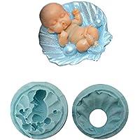 Inception Pro Infinite Modelo 3 - Molde de Silicona bivalvo para bebé Recién Nacido de Uso Artesanal en Concha - También es Adecuado para el Jabón