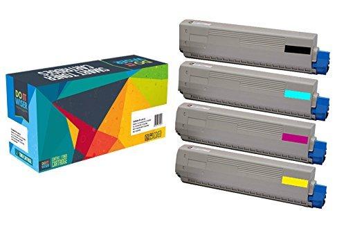 Preisvergleich Produktbild Do it Wiser ® Kompatibel 4er Packung Toner für Oki C822 Oki C822n Oki C822dn
