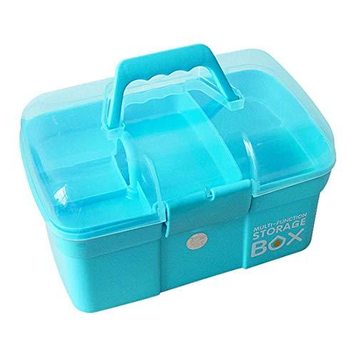 Aranticy Medizinbox Plastik Medizinkoffer 2 Schichten weiß Erste Hilfe Koffer Hausapotheke Medikamenteorganizer Aufbewahrungsbox mit Griff First Aid Box Case für Küche Schlafzimmer-27.5x17x16cm - Bandage Box Kit