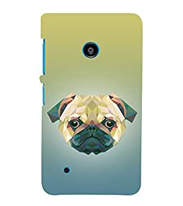 Dog 3D Doggy Puppy 3D Hard Polycarbonate Designer Back Case Cover for Nokia Lumia 530 :: Microsoft Lumia 530