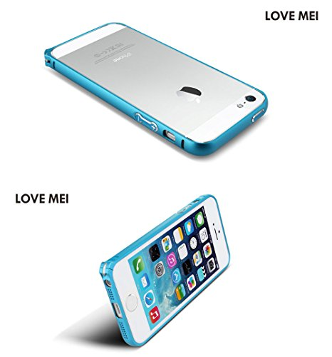 Love Mei Coque ultra fine en aluminium pour iPhone 5/5S en alliage métal courbé Bumper cadre pour