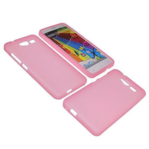 Tasche für Mobistel Cynus F6 Gummi TPU Schutz Handytasche pink