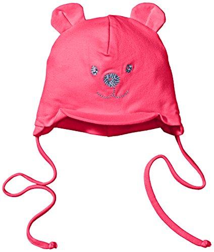 Sterntaler Schirmmütze für Mädchen mit Bindebändern, Nackenschutz und niedlichem Bärchen-Motiv, Alter: 0-1 Monat, Größe: 33, Rosa (Magenta) (1 Motiv)