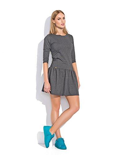 Futuro Fashion Femmes Mini Classique Robe Patineuse Avec Fermeture Éclair Tailles 8-12 FA497 Graphite