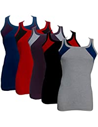 Eraa Men's Cotton Premium Coloured Vest Combo _Pack Of 5 & 3_Assorted Colors_(Colour May Vary As Per Availability)