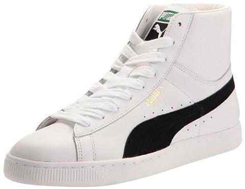 Puma Basket Classic Shoes Mid Unisex-Adult White Size: 10 UK
