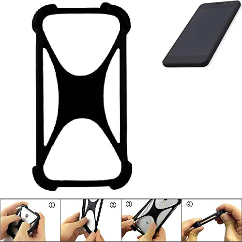 K-S-Trade Handyhülle für Shift Shift5.3 Schutz Hülle Silikon Bumper Cover Case Silikoncase TPU Softcase Schutzhülle Smartphone Stoßschutz, schwarz (1x)