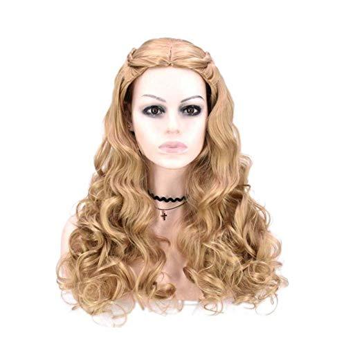 Eachann-Hsi Prinzessin Cinderella Cosplay Synthetische Perücken für Frauen, Synthetische Haarperücke für Anime Kostüm Hitzebeständige Perücken Kopfbedeckungen
