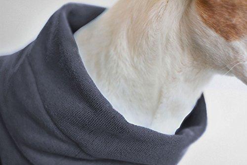 Hundebademantel Gr. 6: ab ca. 69 cm Rückenlänge – trocknet auch den Bauch! geeignet für sehr große Hunde z.B. Berner Sennenhund, weibl. Neufundländer - 2