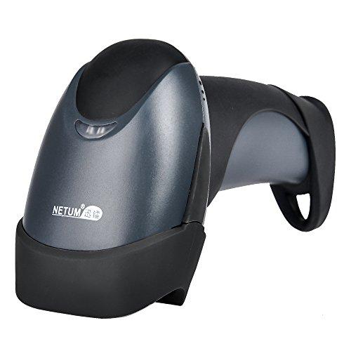 NETUM? handheld 2D QR code laser barcode scanner NT-1200 factory price cheap waterproof USB cable pdf417 bar code reader (Orange)