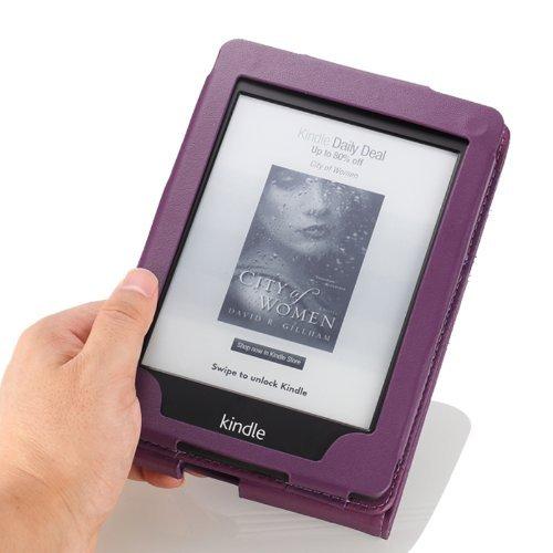 MoKo Etui Amazon Kindle Paperwhite - étui de Retournement Vertical pour Amazon Kindle Paperwhite avec rétro-éclairage (Convient à tous les modèles: 2012,2013,2015 et 2016), BLEU Violet