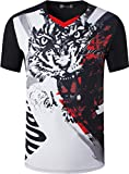 jeansian Jungen Active Sportswear Quick Dry Short Sleeve Breathable T-Shirt Tee Tops LBS718_Black M