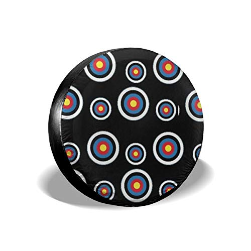 et Colorado Circular Tire Cover Polyester Universal Spare Wheel Tire Cover Wheel Covers Jeep Trailer RV SUV Truck Camper Travel Trailer Accessories 17 inch ()