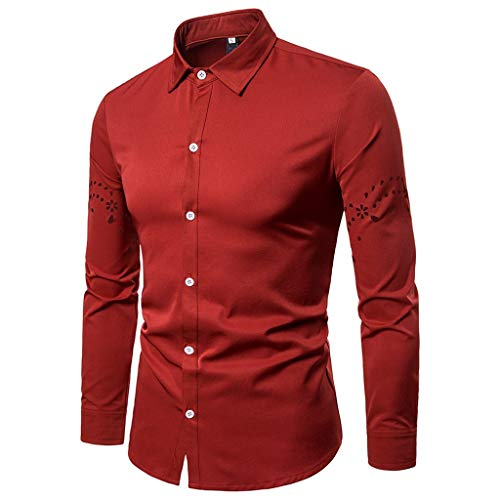 Uomo casual manica lunga cavo mens casual long sleeve camicia elegante shirt slim fit t-shirt business slim fit shirt blouse top stampa,maglione classico qinsling