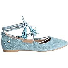 Zapatos Planos Bailarinas Cordones Vaqueras Borlas Flecos Nueva Temporada