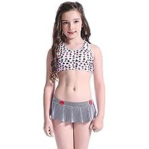f38bc2c3b3cfc6 SSYY Junges Mädchen Bademode Bikini Stellen Sie ein Cosutmen 5-14 Jahre alt  Kinder Schön