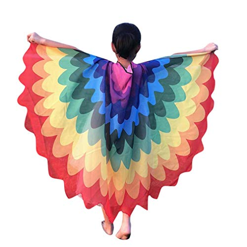 Quaan Halloween Children Kids Scale Print Wings shawl Scarves poncho Costume Accessory poison cute kostüme vampir dracula mönchskutte umhang schwarz horror kostüm vampir umhang kinder