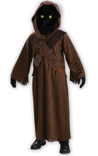 (Jawa Kids Fancy Dress Star Wars Scifi Halloween Movie Kids Childs Costume Outfit)