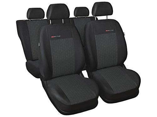 S Sharan Sitzbezüge nach Maß Autoplanen perfekte Passform Schonbezüge Sitzschoner Velour + Strickpolster ®Auto-schmuck (Sharan II 5 p1)