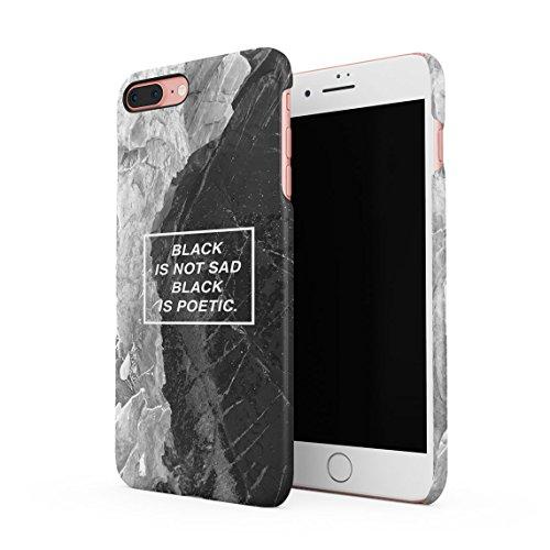 Sad Girls Smoke A Lot Dünne Rückschale aus Hartplastik für iPhone 7 Plus & iPhone 8 Plus Handy Hülle Schutzhülle Slim Fit Case cover Black Is Poetic