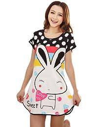 Wuiyepo rond point oreilles longues lapin Pyjamas manches courtes T-shirt mignon
