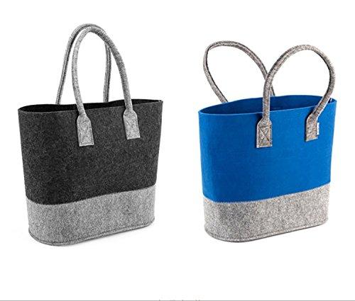 UniEco Filztasche Einkaufstasche Shopper aus Filz grau 1pc