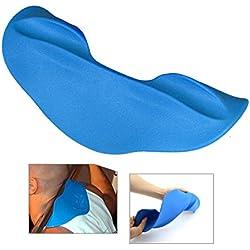 Hombrera barra de pesas barra de cuello, NATUCE cómodas Squat Squat Esponja Haltera protectora de la cubierta del protector - azul